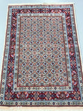 Silk Inlay Persian Birjand Rug