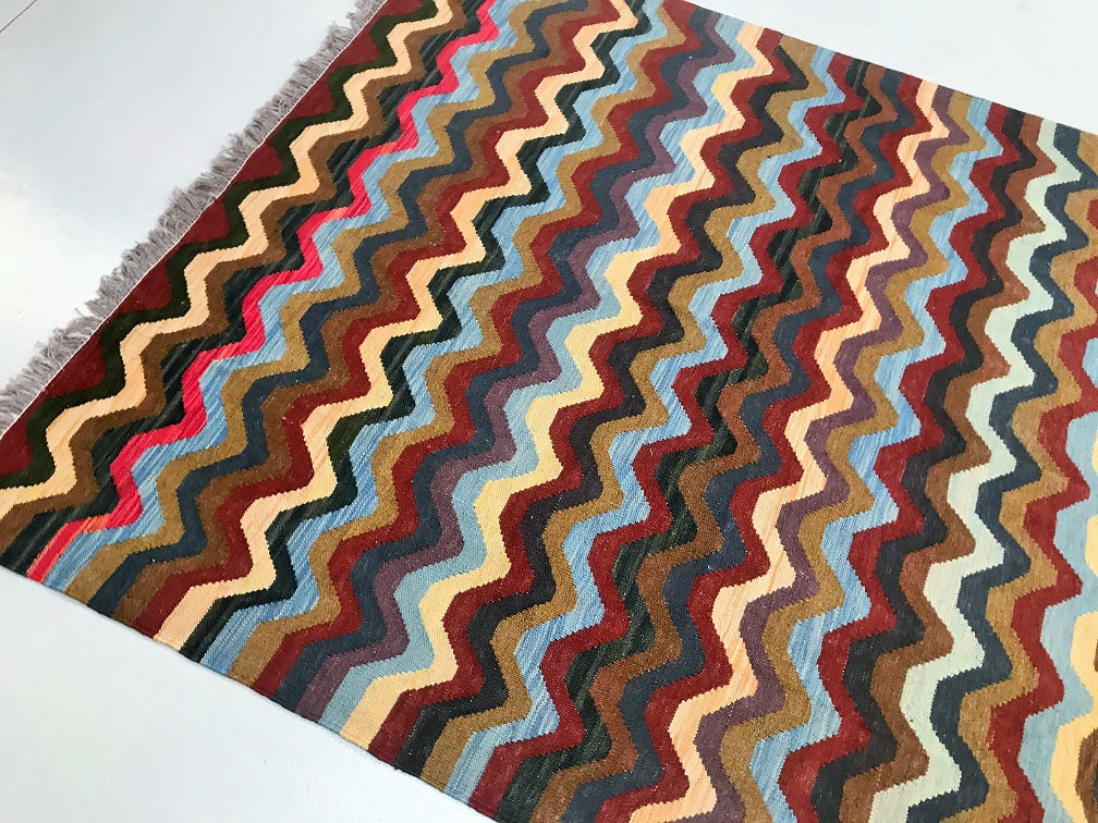Contemporary Boho Kyber Kilim