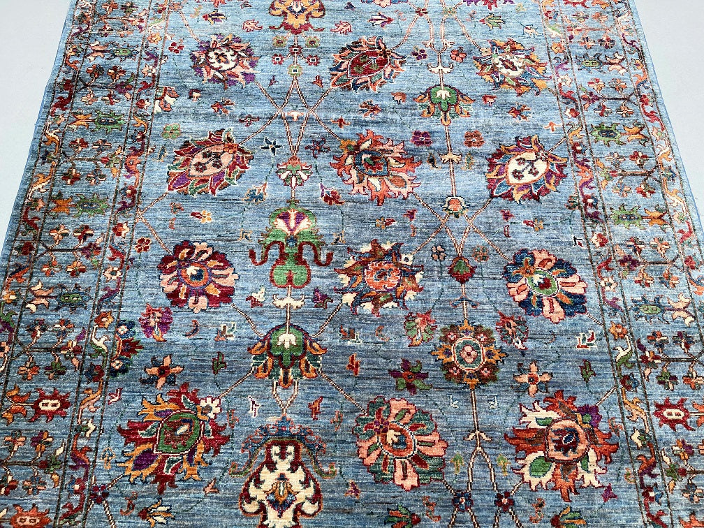 Fish Design Tabriz Rug Signed