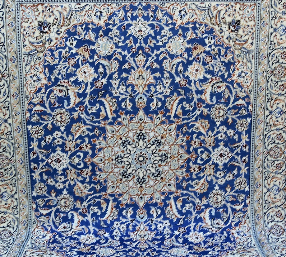 French Blue Nain Rug