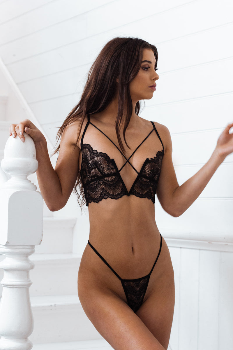 Baxter Bottom Black - Forever and a day intimates