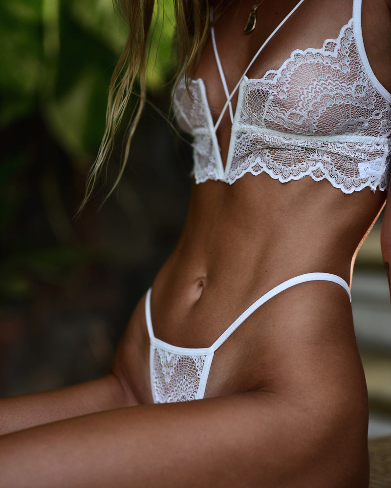 Baxter Bottom White - Forever and a day intimates