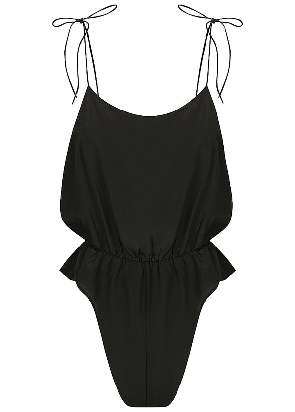 August Silk Romper Black - Forever and a day intimates