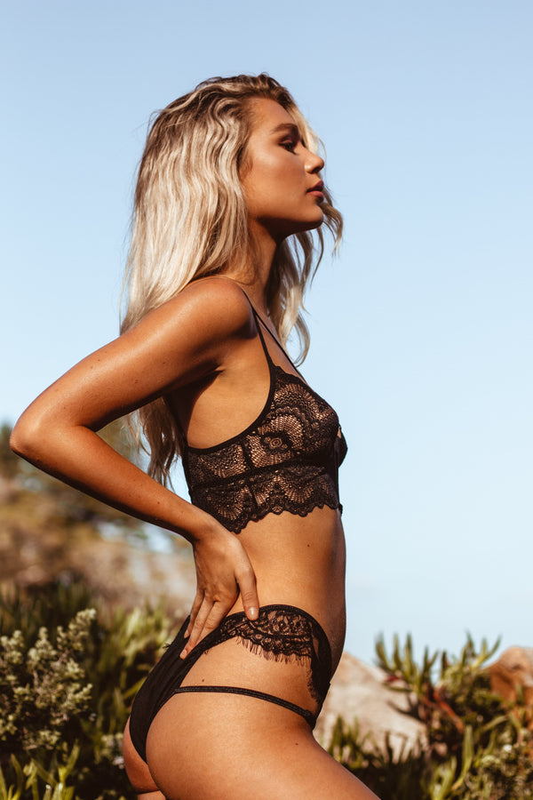 Josie Bottom Black - Forever and a day intimates