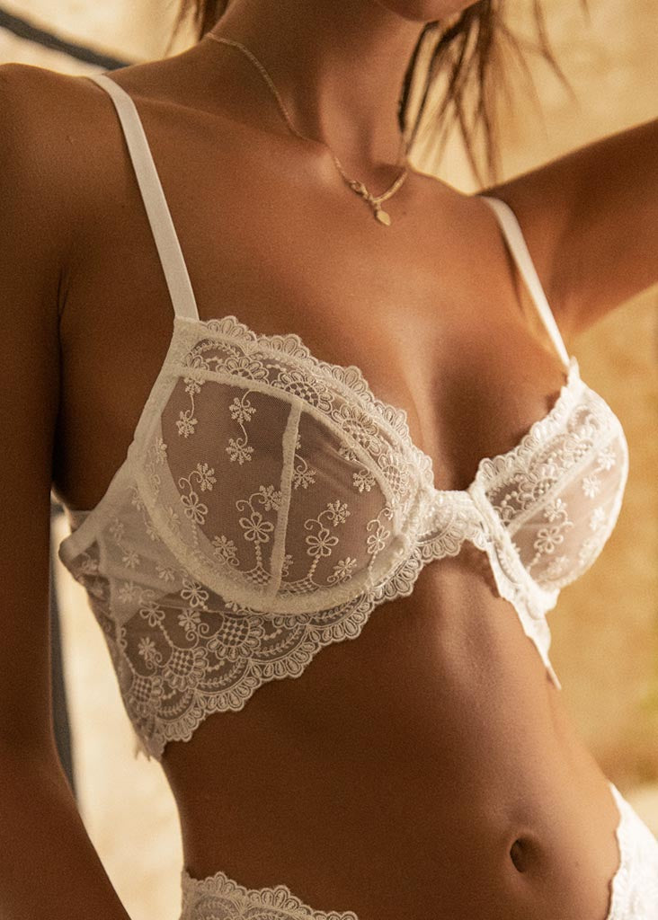 BYRON BRA WHITE - PRE ORDER - Forever and a day intimates