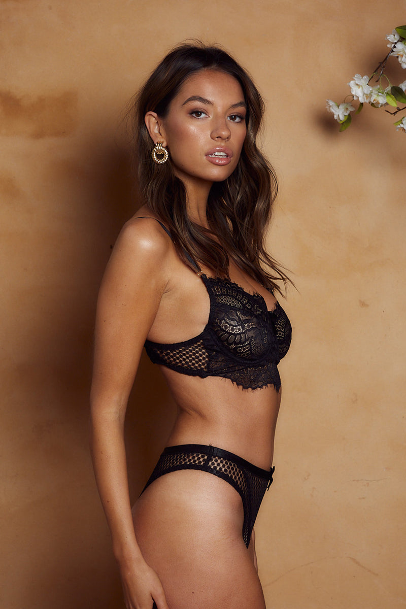 Madeleine Bottom Black - Forever and a day intimates