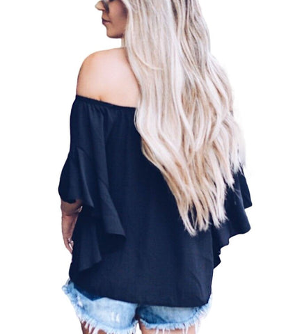 Image of Off The Shoulder Knot Front Top