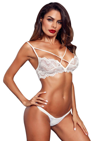 Image of Lace Bralette&Pantie Set (LC43040-1-1)