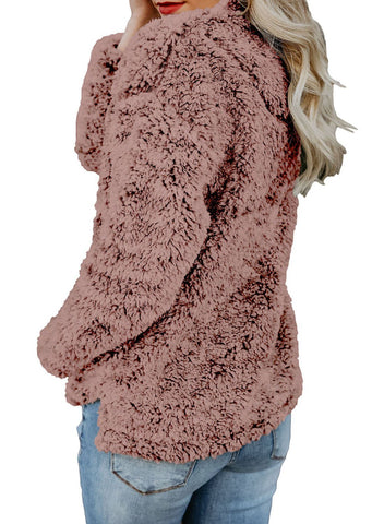 Image of Zipper Fleece Pullover Coat