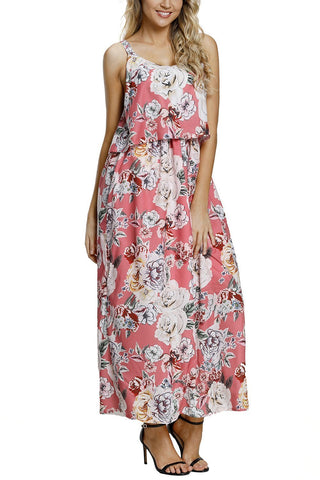 Image of Boho Floral Maxi Dress (LC61991-10-1)
