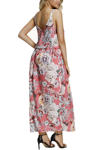Image of Boho Floral Maxi Dress (LC61991-10-2)