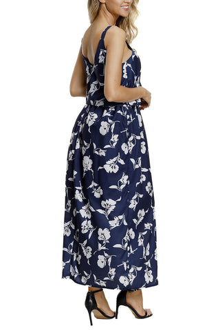 Image of Boho Floral Maxi Dress (LC61991-1-2)