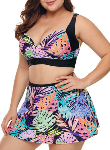 Image of Tropical Skirted 2pcs Swimsuits