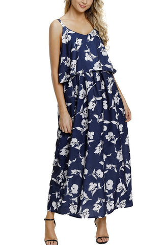 Image of Boho Floral Maxi Dress (LC61991-1-1)