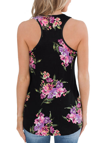 Image of Floral Summer Tank(LC251948-2-2)