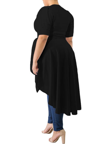Puff Long Tail Plus Size Top