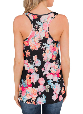 Image of Floral Summer Tank(LC251948-22-2)