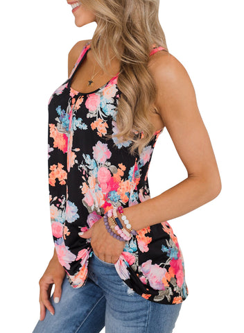 Floral Summer Tank(LC251948-22-3)