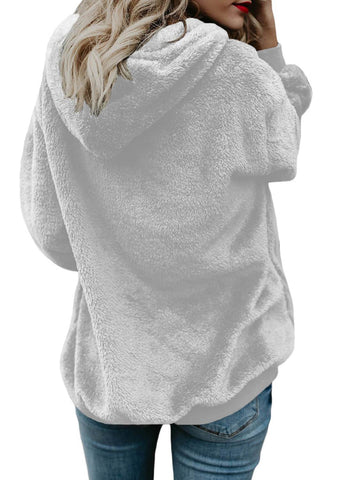 Image of Furry Loose Pullover Hoodie