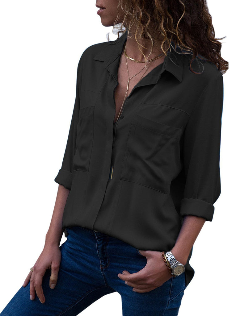 Button Down Casual Work Shirt