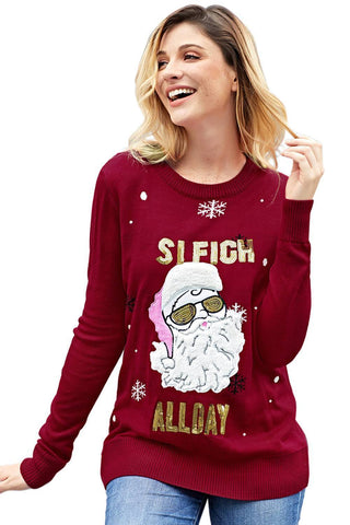 Image of Happy Xmas Christmas Knit Sweater