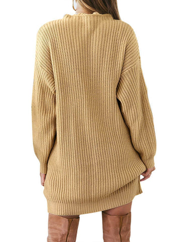 Image of Casual Pullover Mini Sweater