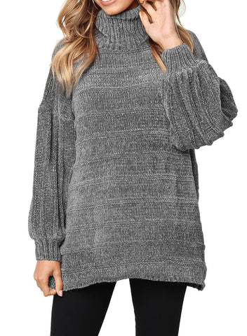 Soft Velvet Knit Sweater Jumper