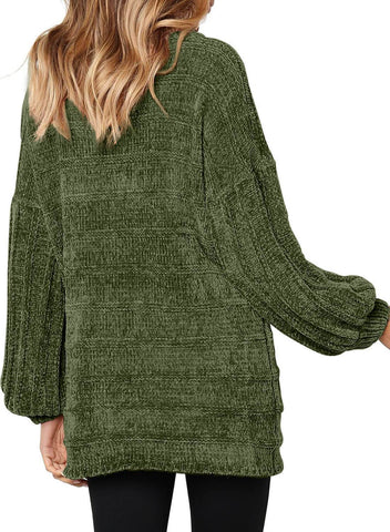 Image of Soft Velvet Knit Sweater Jumper