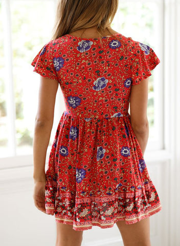 Image of Floral Print Valentina Dress(LC220719-103-2)