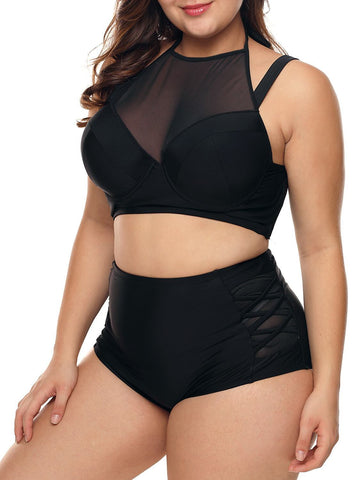 Image of Push Up Mesh 2pcs Swimsuits (LC410746-2-3)
