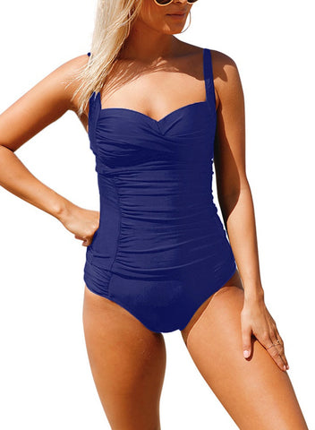 Image of Ruched Push Up Two Piece Bathing Suit