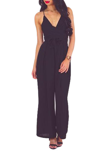 Wrap and Tie Open Back Jumpsuit