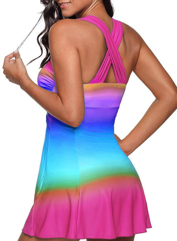 Tye Dye Wrap Swim Dress