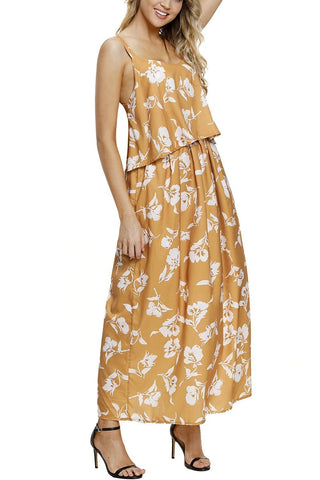 Image of Boho Floral Maxi Dress (LC61991-7-2)