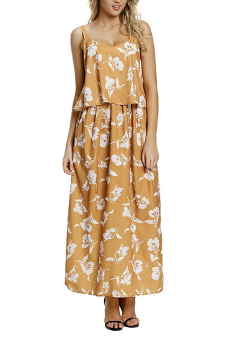Image of Boho Floral Maxi Dress (LC61991-7-3)