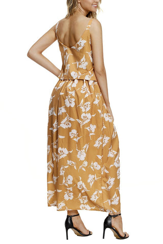 Image of Boho Floral Maxi Dress (LC61991-7-4)