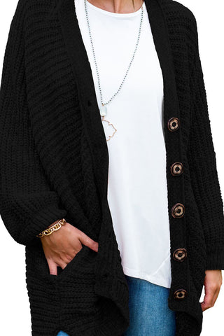 Image of Button Pockets Loose Fit Cardigan