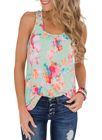 Floral Summer Tank(LC251948-9-1)
