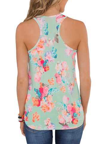 Image of Floral Summer Tank(LC251948-9-2)
