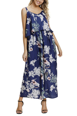 Image of Boho Floral Maxi Dress (LC61991-9-1)