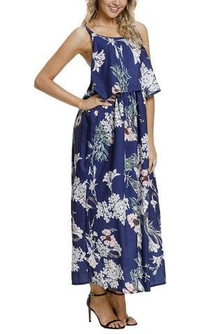 Image of Boho Floral Maxi Dress (LC61991-9-3)