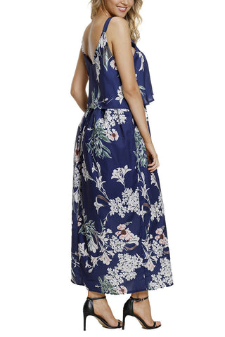 Image of Boho Floral Maxi Dress (LC61991-9-2)