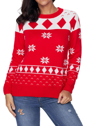 Image of Geometric Holiday Christmas Sweater
