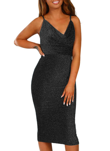 Bodycon Midi Dress (LC220585-2-4)