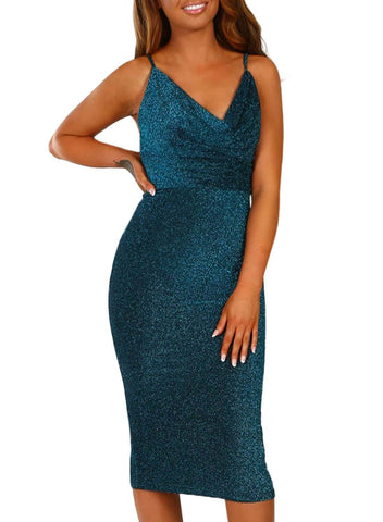 Bodycon Midi Dress (LC220585-5-4)