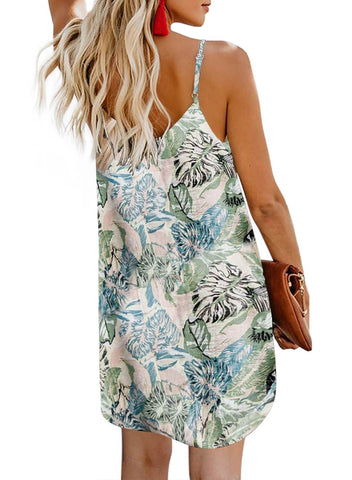 Print Floral button dress (LC220720-4-2)