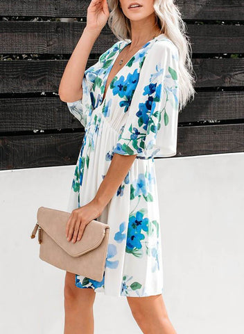 Hawaiian Babydoll Floral Dress(LC220764-4-3)