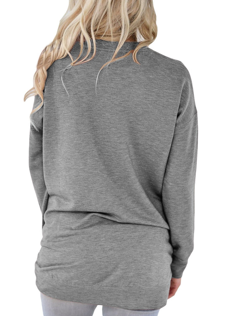 Side Pockets Long Sleeve Tee Top