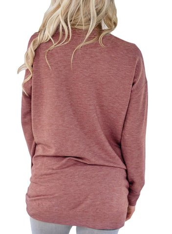 Image of Side Pockets Long Sleeve Tee Top
