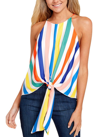 Image of Stripes Keyhole Back Tank Top